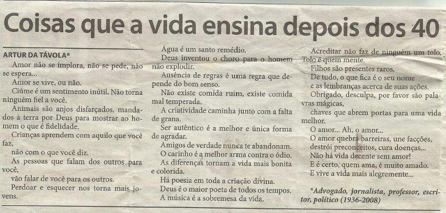 Artur da Távola - Coisas que a vida ensina depois dos 40