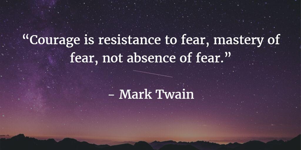 coragem - Mark Twain