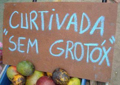 piada: fruta sem agrotóxico