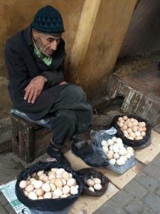 vendedor de ovos