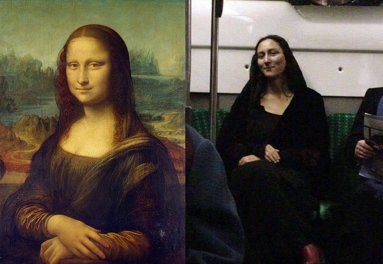Mona Lisa no metro