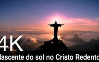 nascente do sol no Cisto Redentor - Rio de Janeiro