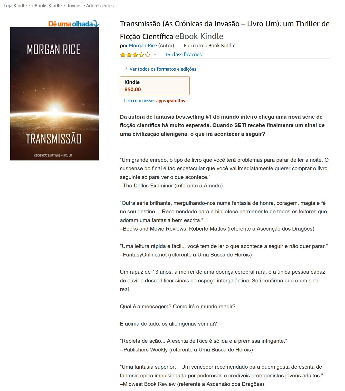 Transmissão (As Crónicas da Invasão – Livro Um) um Thriller de Ficção Científica