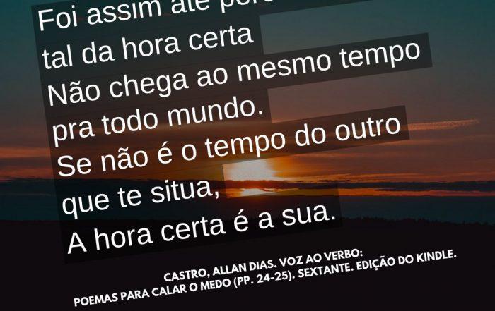 Hora certa - Alan Dias Castro